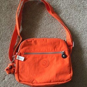 EUC Kipling Keefe Deep Tangerine Crossbody Bag